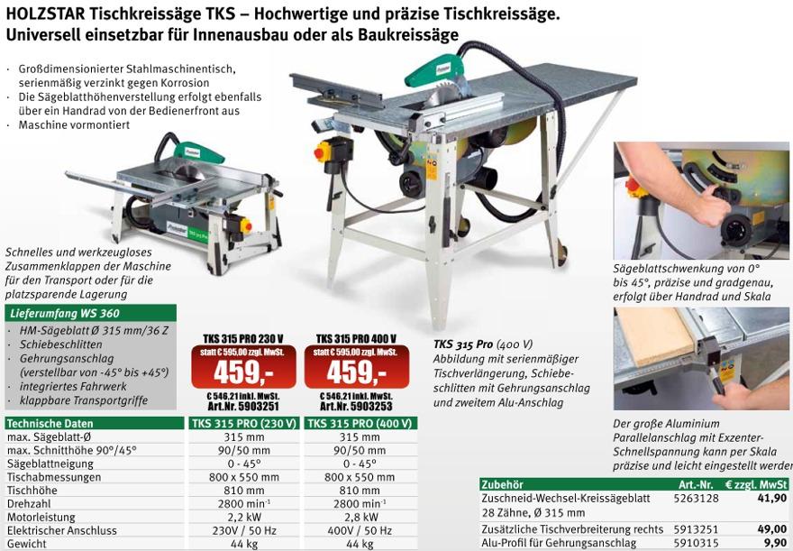 sax tischkreiss ge holzstar tks 315 pro. Black Bedroom Furniture Sets. Home Design Ideas